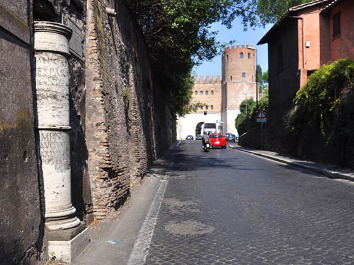Mile Post on the Appian Way in Rome