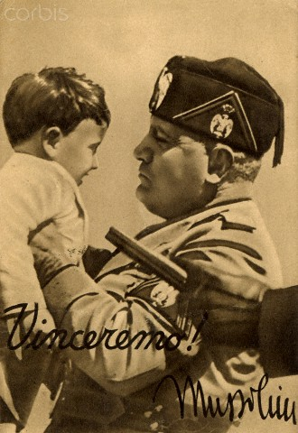 World War II. Italian fascist propaganda