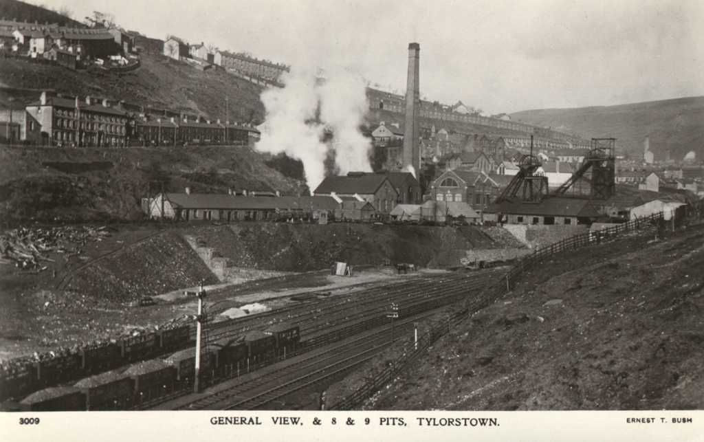 Glamorgan, Rhondda Valleys, Tylorstown General View, Numbers 6 and 7 Pits