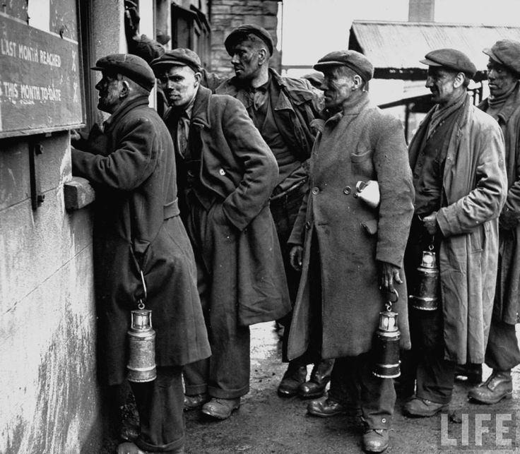 Welsh coal miners, 1947