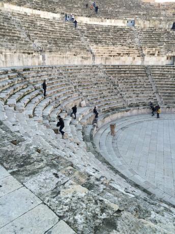 Roman Theatre in Amman, Jordan.