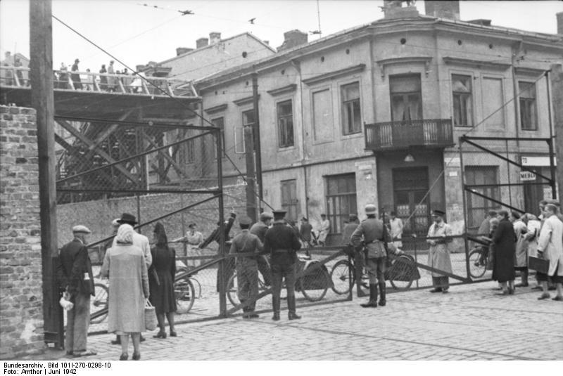 Polen, Ghetto Warschau, Drahtzaun