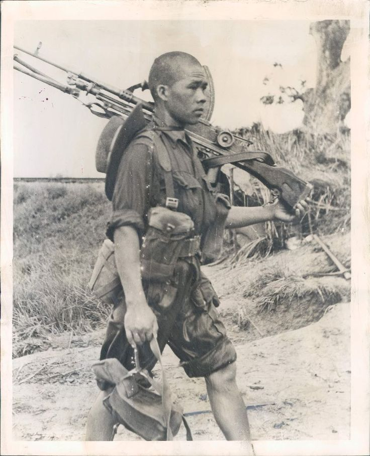 Gurkha Patrolman returns after contact with Japanese near laya station, Burma