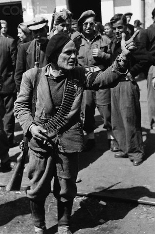 An old tobacco farmer, whose son was killed by guerillas, makes an anti-Slav speech during the Greek Civil War of 1945-1947. Location Rodopolis, Macedonia, Greece.