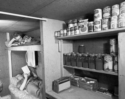 Cold War preparation meant for many American families building a Fallout Shelter in case of Nuclear War.