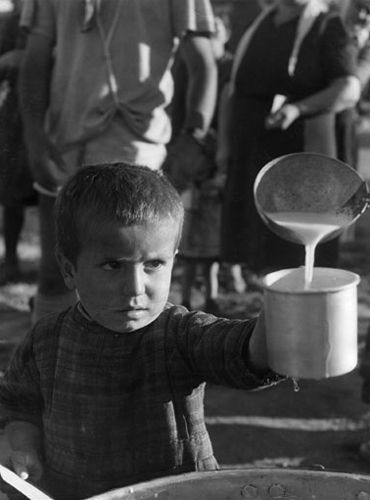 Famine due to displacement and politicized food distribution worked their own violence.