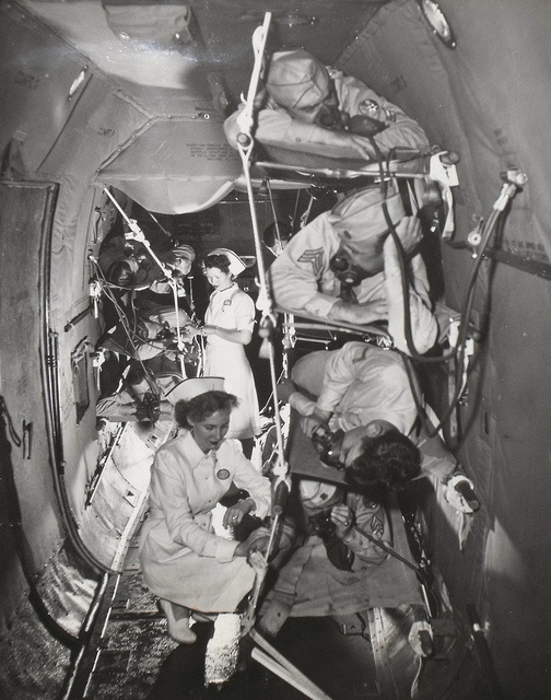 Nurses on war planes.