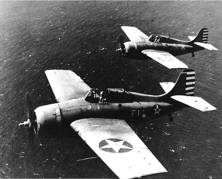 USS_Lexington_Wildcats_April_1942