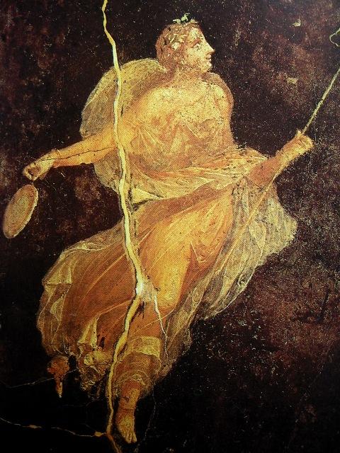 roman woman wearing a chinese messi dress