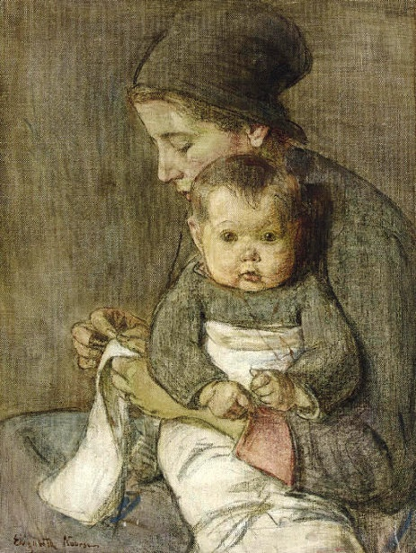 Mother And Child Elizabeth Nourse (1860 – 1938, American) 1y