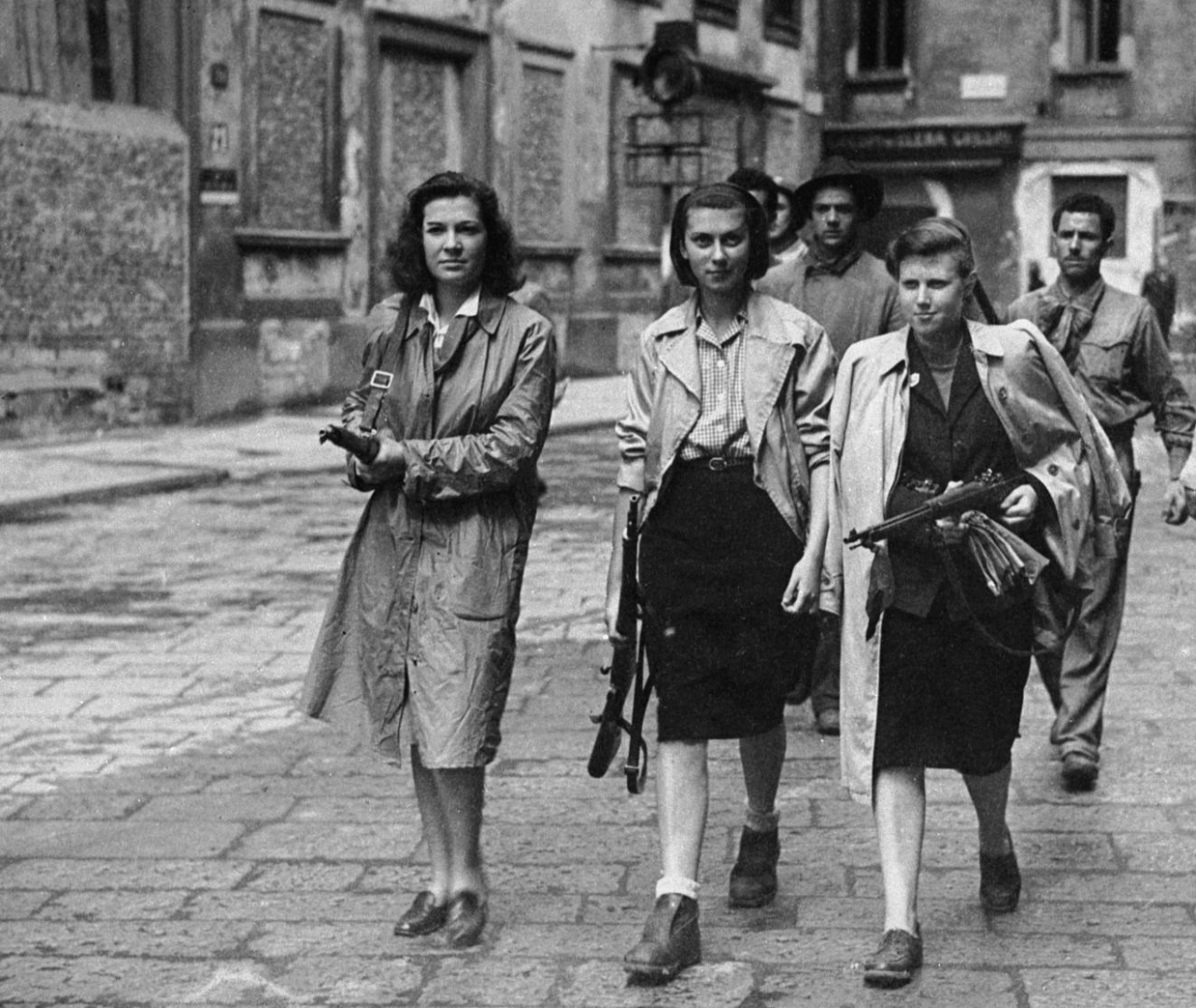 WWII — Women of the Italian resistance (Milan, Italy - April 1945)