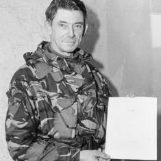 Argentine commander, General Mario Menendez, surrendered to Major General Jeremy Moore (pictured here),