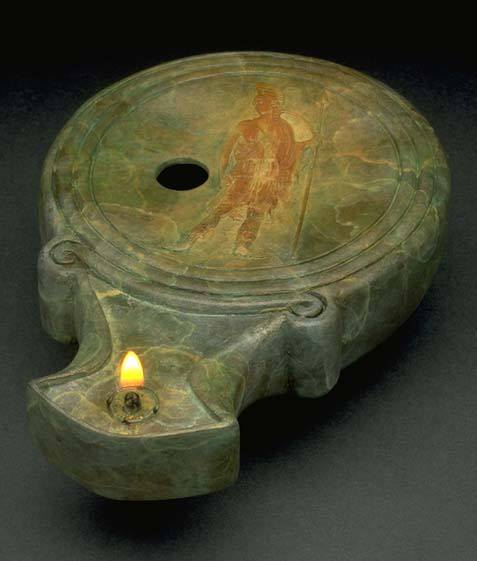 Roman oil lamp from the 1st century CE. 2