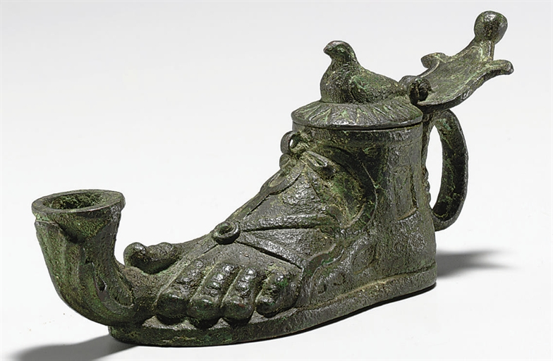 add roman oil lamp bronze