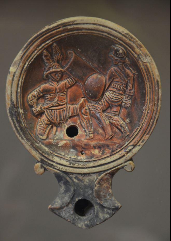 oil lamp rome 1 century start