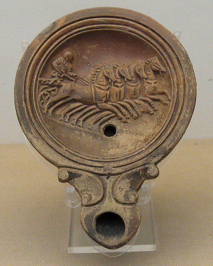 roman oil lamp british museum