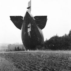 The German Zeppelin L49 naval captured near Bourbonne-les-Bains in Haute-Marne October 20, after returning from a raid on England over 19-20 October, 1917.