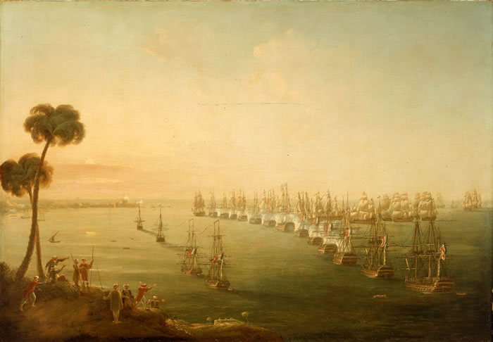 battle Pocock's_Battle_of_the_Nile