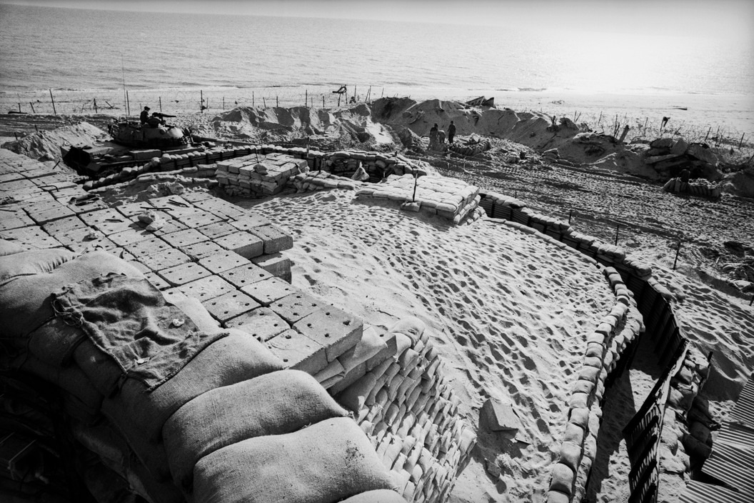 SINAI. 1971. Israeli first line fortifications on the Bar-Lev line, near the Suez Canal.